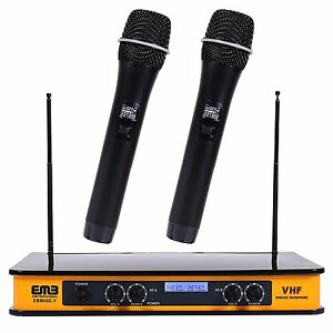 EMB-EBM60E VHF Wireless Hand Held Microphone Mic System With ECHO Karaoke