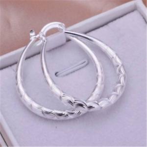 Fashion-Silver-925-Cute-Women-Wedding-Party-U-Earring-Lady-Jewelry-Gift-New