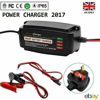 12V 5A 4-Stage Smart Charger/&Conditionor Car Motorbike Boat Van Battery Charger
