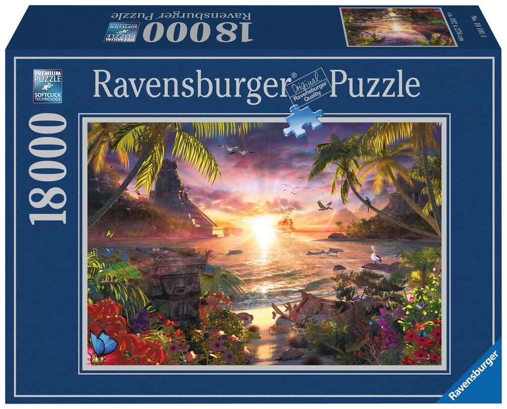 RAVENSBURGER  PUZZLE  18000 PIECE. PARADISE SUNSET. ITEM.NR.17824. NEW