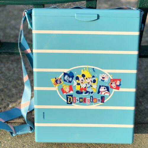 Disneyland 65th Anniversary Popcorn Bucket Blue Box Mickey Minnie BB-8 Hatbox