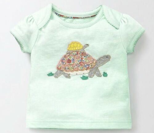 Baby Boden Soft Girls Applique Patchwork Tops TShirts 0-2Yrs