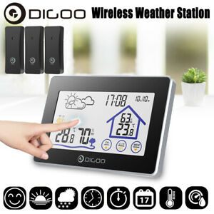 Digoo Outdoor Touch Screen Wireless Weather Station Temperature Humidity