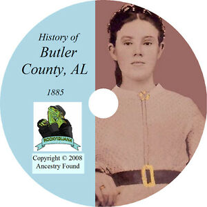 1885-BUTLER-County-Alabama-AL-History-Genealogy-Ancestry-Greenville-CD-DVD