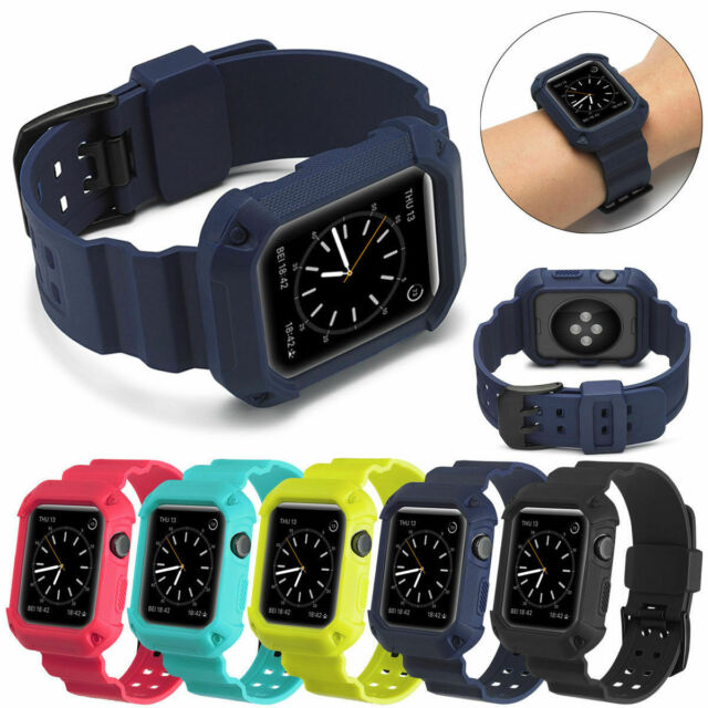 Apple Watch Band 38mm Case Shockproof Rugged Protective Strap Bands Blue For Sale Online Ebay