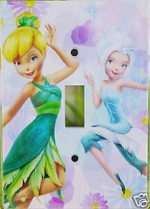 Girls-Disney-Fairies-Tinkerbell-Light-Switch-Plate-Wall-Plate-Single-Toggle-New