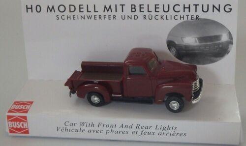 weinrot #NEU in OVP# BUSCH 5643 Spur H0 Chevrolet Pick-up