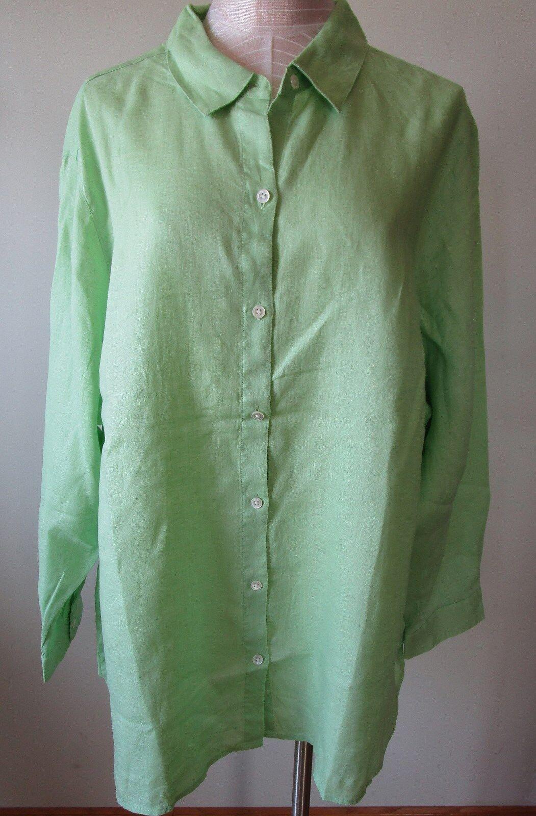 J.Jill     Linen   Big   shirt      3X     NWT      Grün