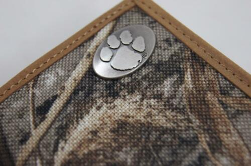 ZEP-PRO NCAA Clemson Tigers REALTREE MAX-5 Camo Trifold Wallet Tin Gift Box