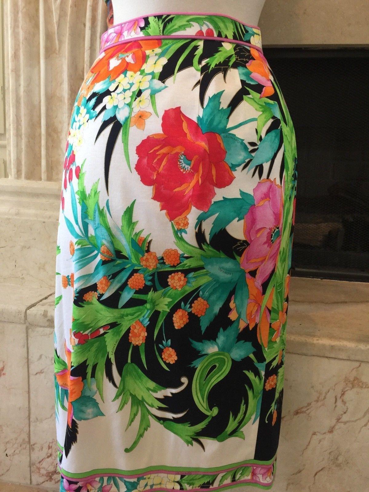 RARE   Leonard Paris  Floral printed   Skirt ( XS  S )