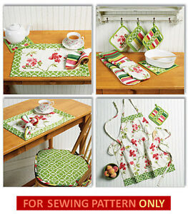 image is loading sewing pattern make kitchen accessories apron hot pads - Kitchen Hot Pads