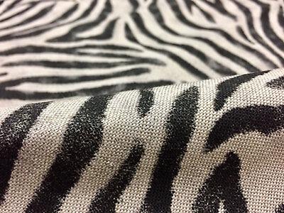 Cebra Animal Tela Estampada Ropa Algodón Mezcla Cortinas Rayas Negras 55/'/' Ancho