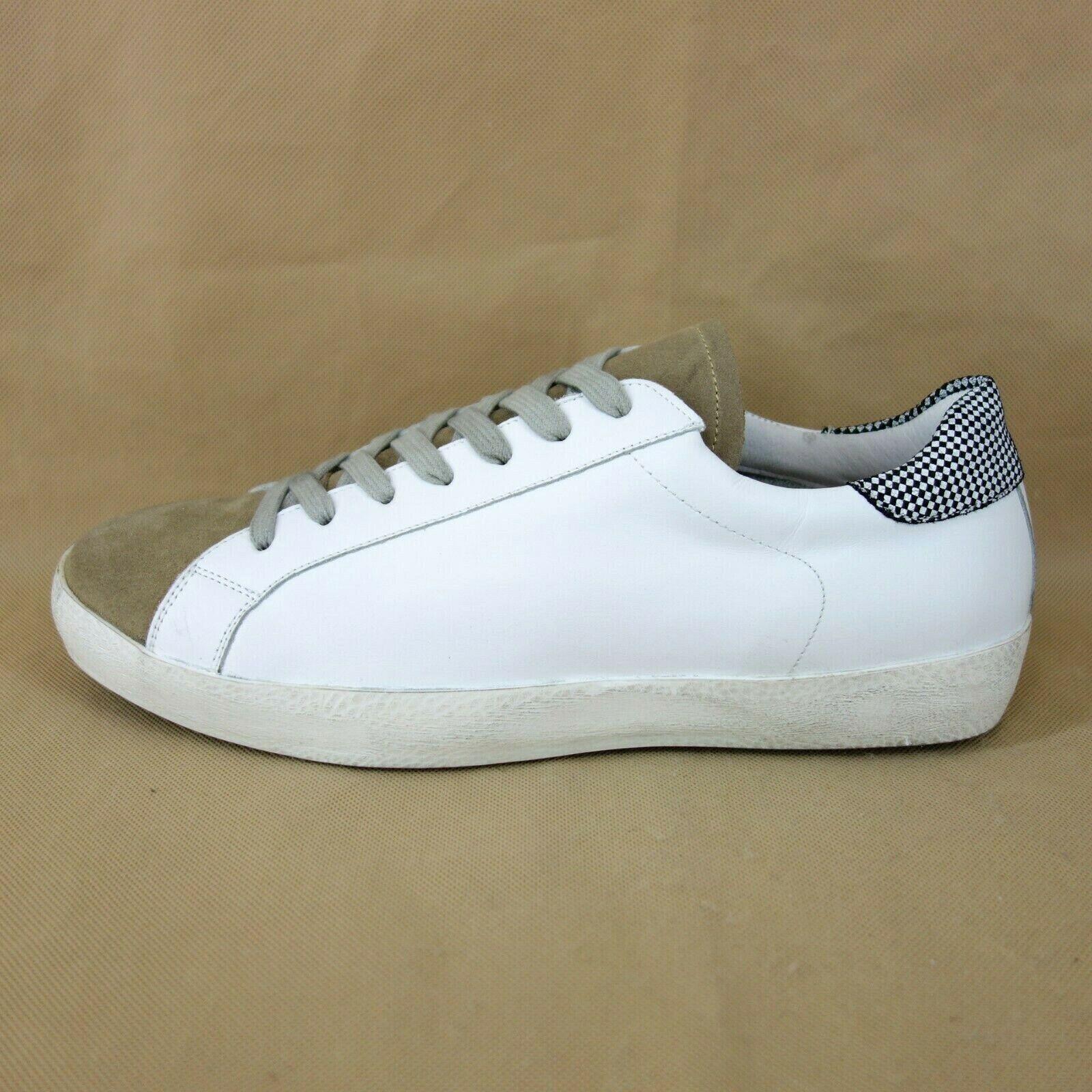 Meline Méliné Men's Shoes Sports Shoe Sneaker Leather White Braun New