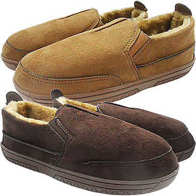 Mens Gents Gusset Comfort Fur Lined Light Weight Wide Slippers Shoes Loafer Size Diversifizierte Neueste Designs