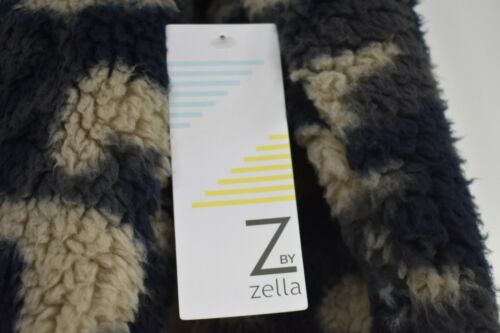 Z by Zella Womens Long Sleeves Faux Shearling Camouflage Hooded Sweater