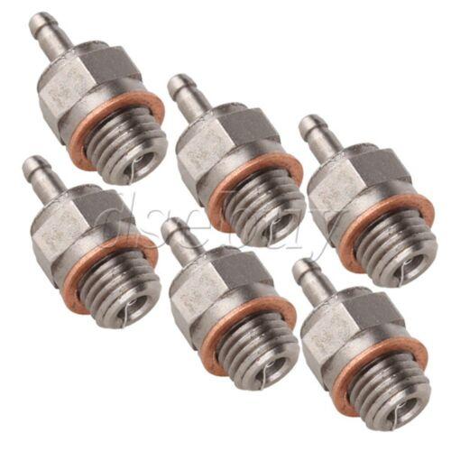 6Pcs Steel Super Glow Plug RC #3 N3 70117 Hot Engines Kyosho HPI HSP 1:10