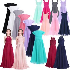 Girls-Princess-Long-Dress-Pageant-Formal-Flower-Party-Wedding-Birthday-Dresses