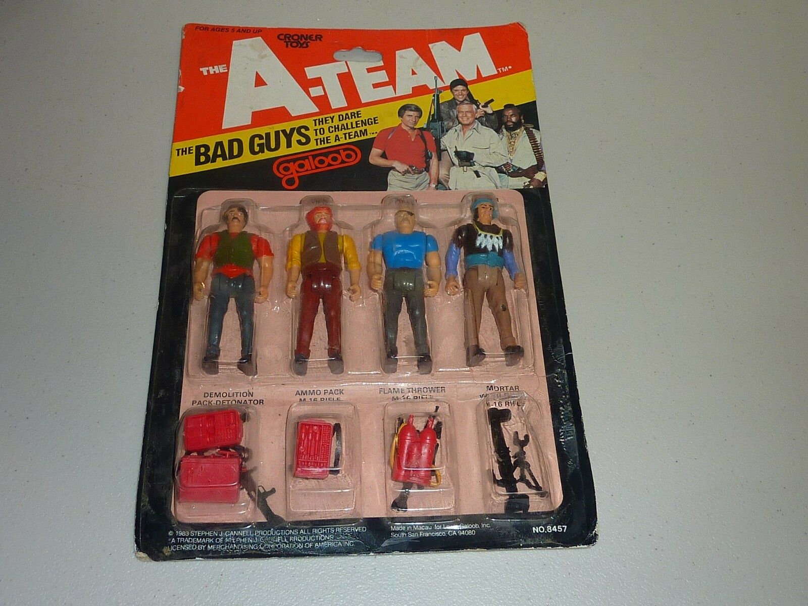 The A-team the bad guys figure pack galoob vintage 1983 croner toys moc