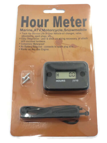 Gas Engine Motor Digital Hour Meter for Service Maintenance Record Repair