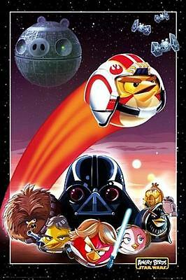 Maxi Poster 61cm x 91.5cm new and sealed Collage Angry Birds Star Wars