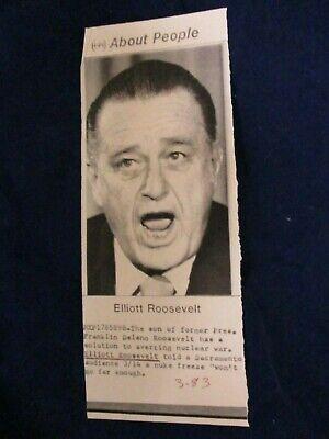 MS Elliott Roosevelt, son of President Franklin Roosevelt ...   Elliott Roosevelt Son Of Fdr
