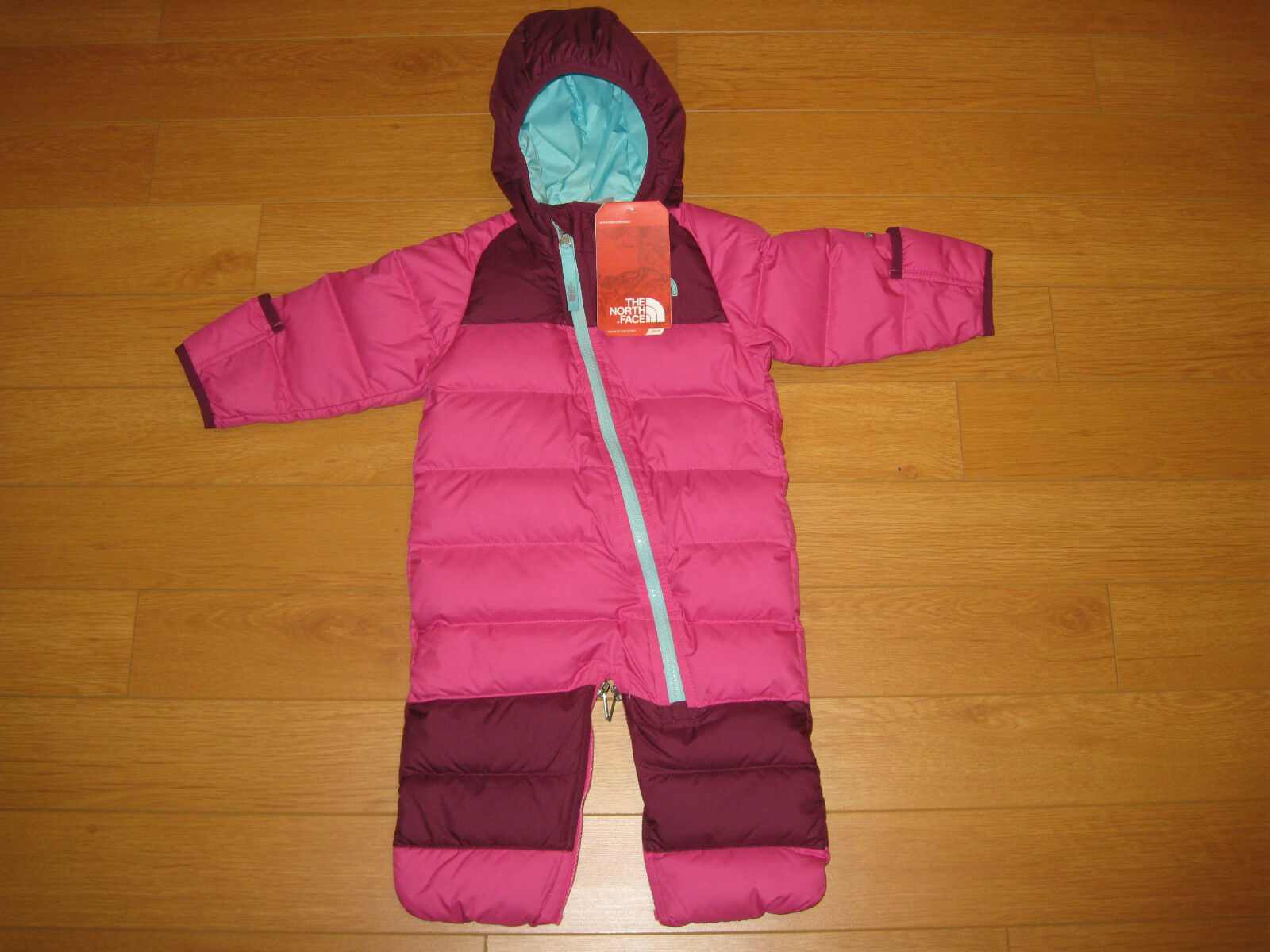 ede0788cabbb 73 62 The North Face Pink Infant Lil Snuggler Down Suit Size 3-6 M ...
