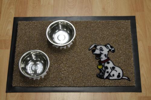 Hund Fußmatte Türmatte Napfunterlage beige 40x60 cm