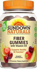 Sundown Naturals Fiber With Vitamin D3, 50 Gummies