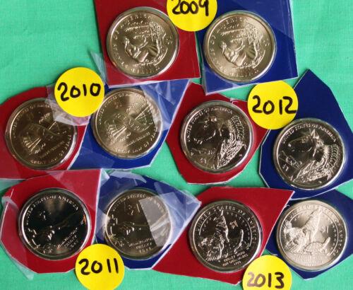 2000-2019 SACAGAWEA Dollar Native American 40 Coin P /& D Cello Lot BU /& Satin