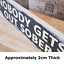 thumbnail 2 - NOBODY GETS OUT SOBER Signs Wood Block Plaque Rustic Funny Shabby Chic Bar Sign