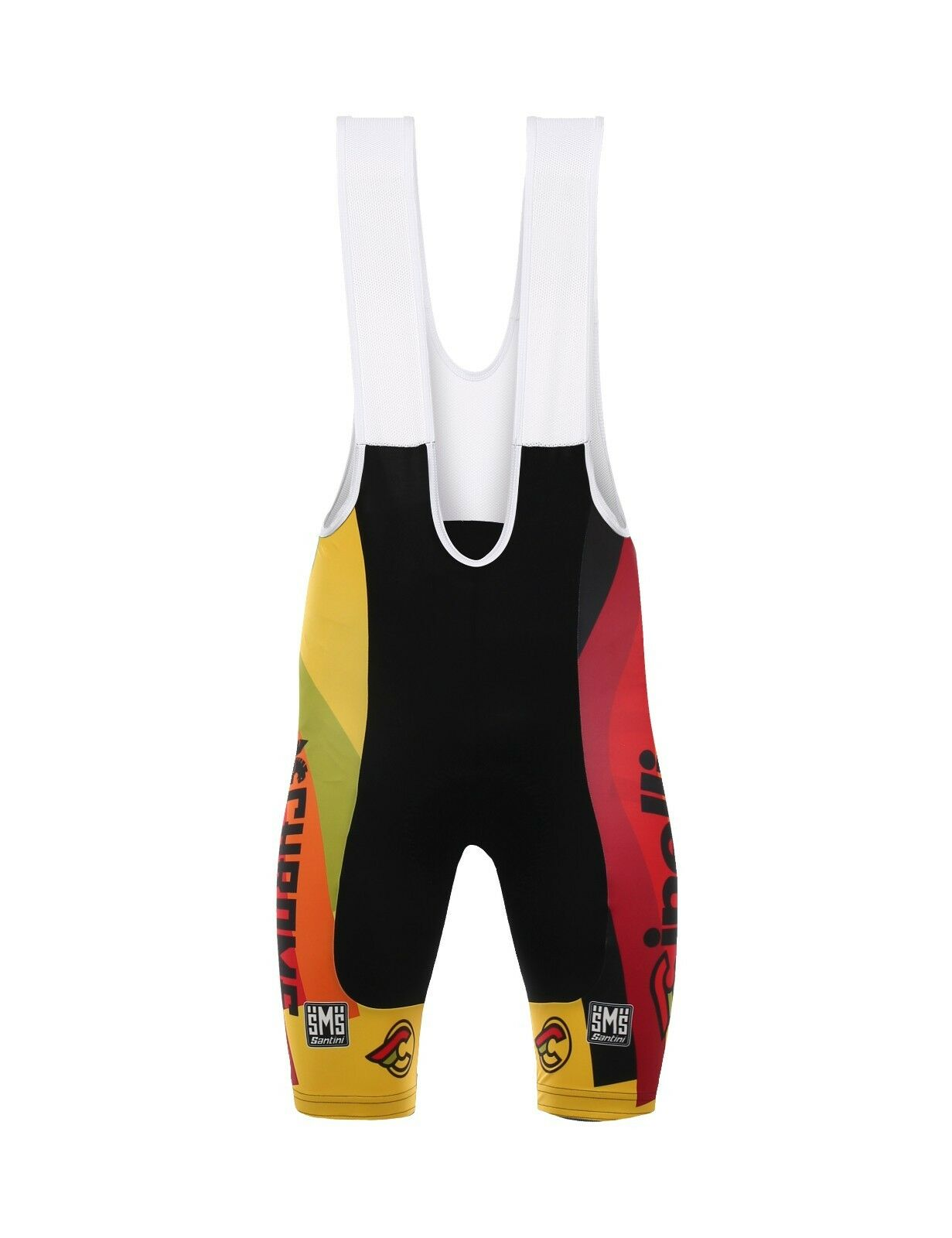2017 Cinelli Chrome Team Cycling Bib courtes with Max2 Pad - made by Santini