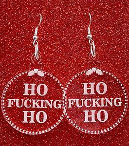 Rude-Christmas-Bauble-Earrings-Offensive-Jewellery-Acrylic-Earrings