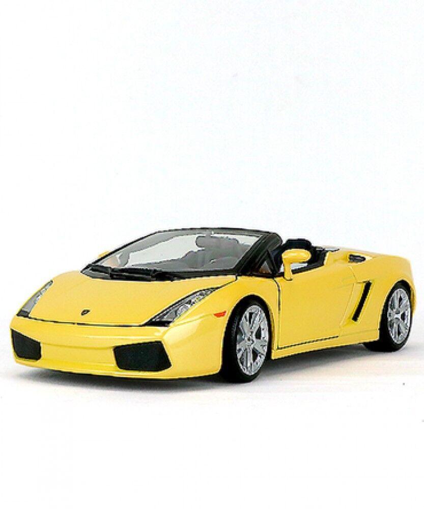 Nuevo благо 1/18 Escala Lamborghini Gallardo Spider amarillo RACER DRIVER Japón
