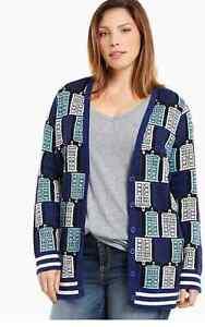 Womens Plus Size Bbc Doctor Who Tardis Cosplay Cardigan Sweater