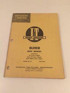 Vintage-Implement-amp-Tractor-Shop-Manual-Oliver-99-Super-99-Super-99GM