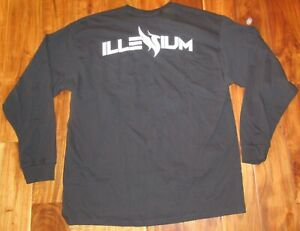 Illenium-Authentic-Men-039-s-Long-Sleeve-T-Shirt-Black-amp-White-size-XL