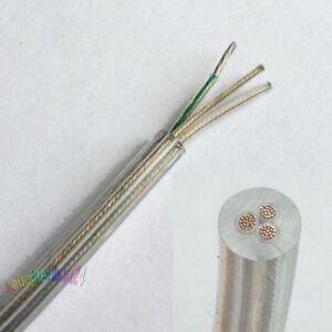 2m Premium Design Textilkabel-Zuleitung Kupfer 3x0,75 Schukostecker Schalter