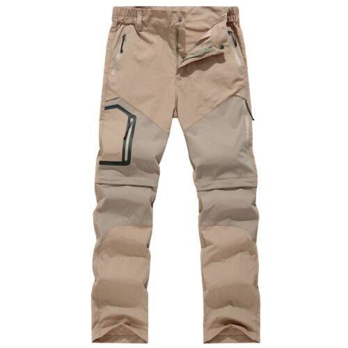 Men Cargo Work Trousers Soft Shell Climbing Hiking Outdoor Tactical Pants Casual