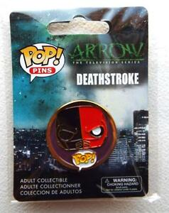 NEW-ECCC-2017-Pop-Pins-ARROW-TV-Series-DEATHSTROKE-Pin-Back-Button