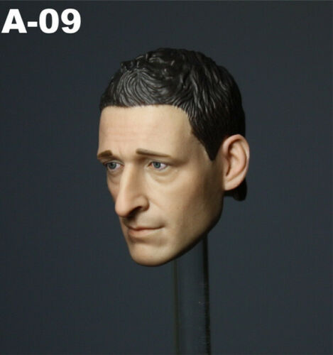 V09 1//6 Scale HollyWood Head Sculpt Adrien Brody Fit for 12/'/' Body Figure