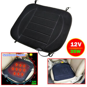 Image is loading Heated-Car-Seat-Cushion-Seat-Heating-Cover-12V-  sc 1 st  eBay & Heated Car Seat Cushion Seat Heating Cover 12V Chair Warmer Heater ...
