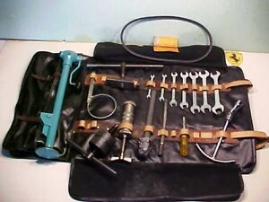 Ferrari 250 Tool Kit Jack Roll Bag Tools_Wrenches_Hub Puller_Grease Gun_Fan Belt