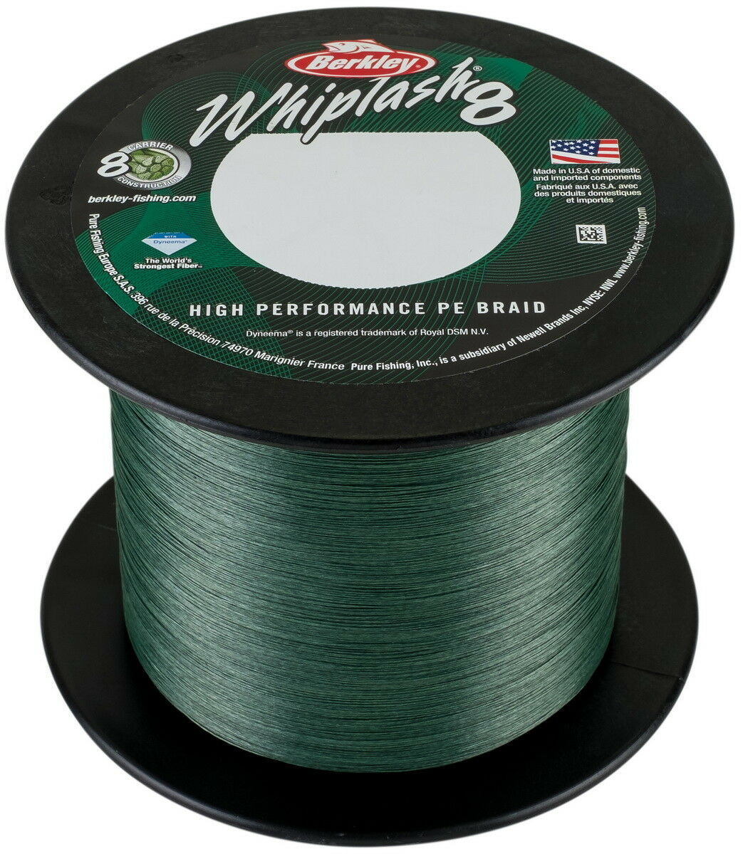 Berkley Whiplash 8 2000m 0.10 verde, Intrecciato lenza, braided line