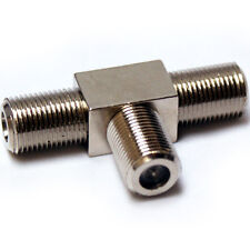 2 Port/Way F-Type Connector Y Splitter Adapter -Coaxial Female Socket T Junction