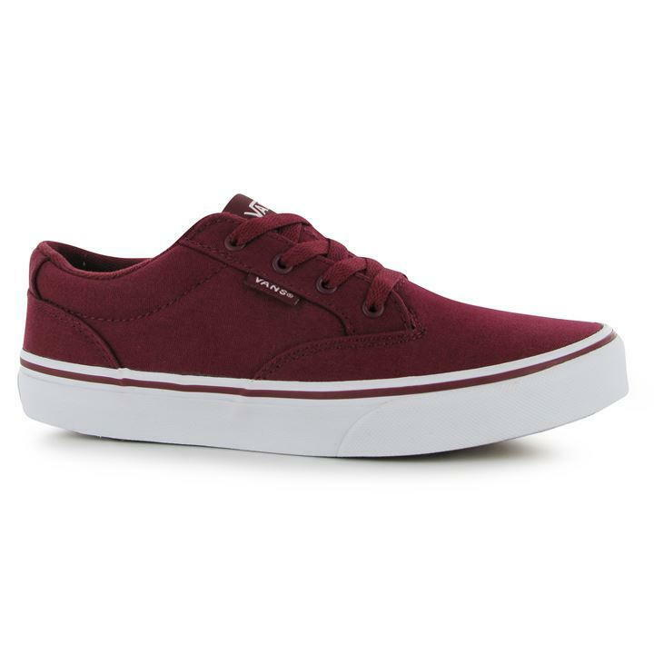 BRAND NEW IN BOX - WINSTON VANS TRAINERS - BURGUNDY RED - SIZE 6