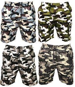 nuevo producto 448b0 3839f Detalles acerca de Pantalón corto para hombre Cargo Camo Camuflaje Combate  Algodón Pantalones medios Elástico Pantalones 1- mostrar título original