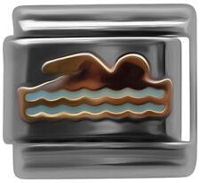 Italian charm Swimmer 9mm classic link    (P12)