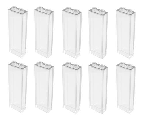 ☀LEGO 10x New 1x2x5 Transparent Bricks Trans-Clear Translucent Clear Brick Wall