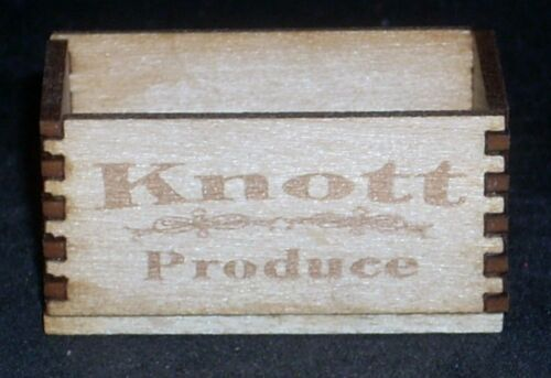 Dollhouse Miniature Knott Produce Crate 1:12 Market Farm Fruit Texas