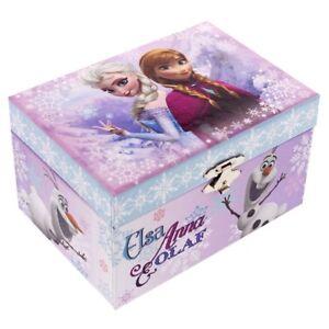 GIRLS CHILDRENS DISNEY FROZEN ANNA ELSA & OLAF JEWELLERY TRINKET KEEPSAKE BOX